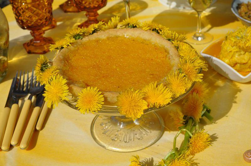 Löwenzahn-Zitronen-Tarte