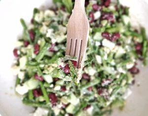 Makroaufnahme des Salates