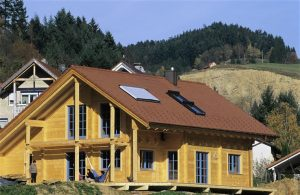 fertiges Holzblockhaus